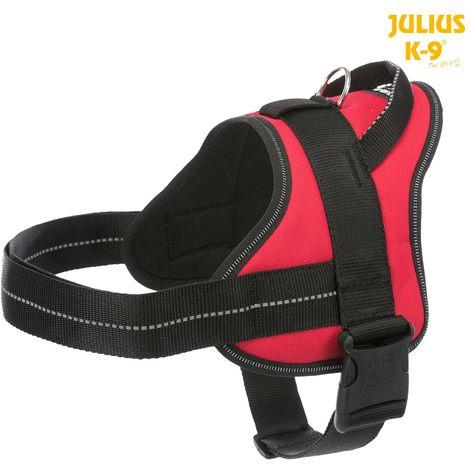 Harnais Pure Julius K9 -L 66-85cm 40mm rouge