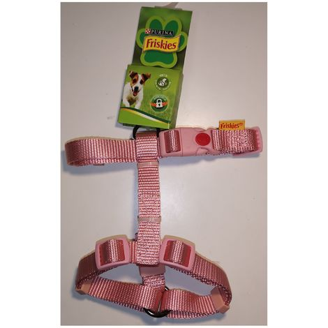 harness nylon pink for Dog - Size XS-S - Friskies Purina