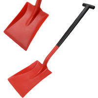 Harold Moore General Purpose Snow Shovel Heavy Duty Snowburner Standard Blade T Grip Solid Reinforced Shaft - Red