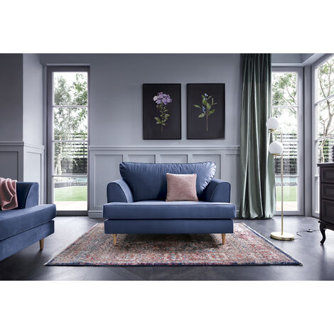 """main image of """"Harper Cuddle Chair - color Oxford Blue"""""""