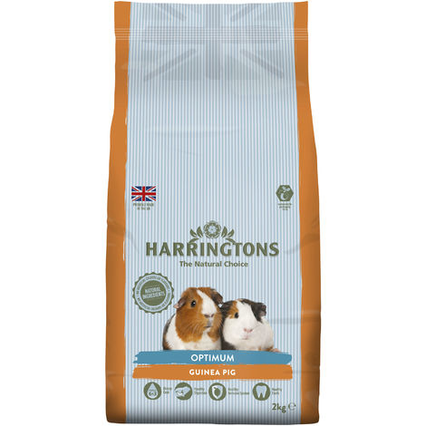 Harringtons Optimum Complementary Guinea Pig Food (4 Packs) (4 x 2kg) (May Vary)