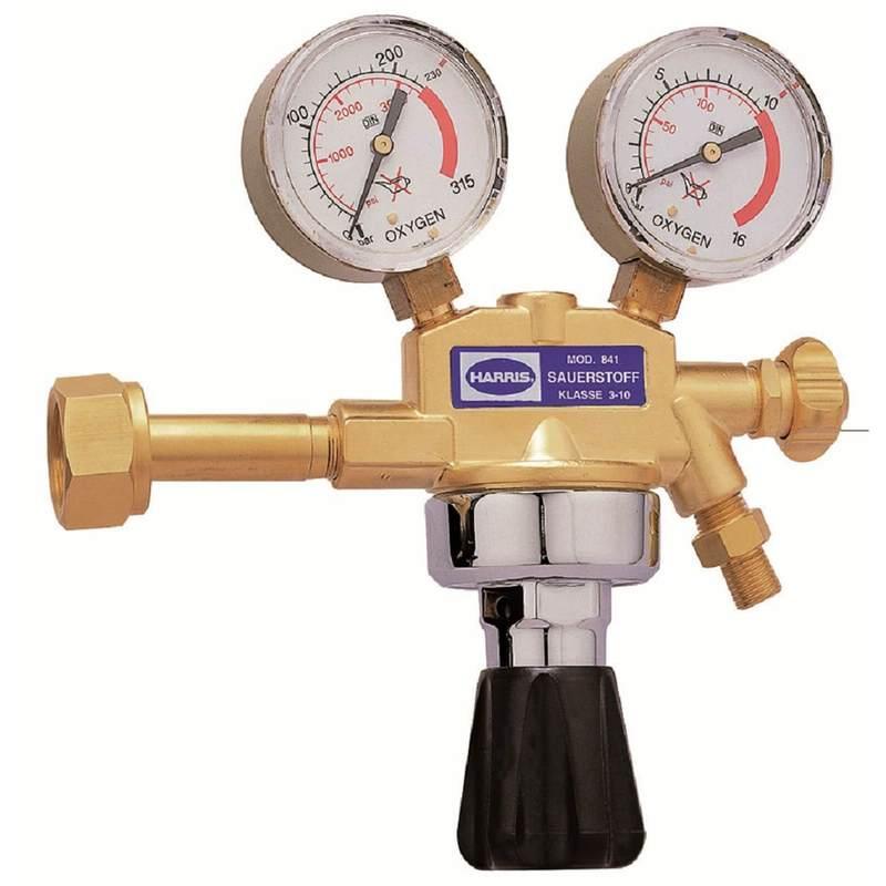 Aus 200 bar 0-10 bar # Ein Druckminderer Prüfgas
