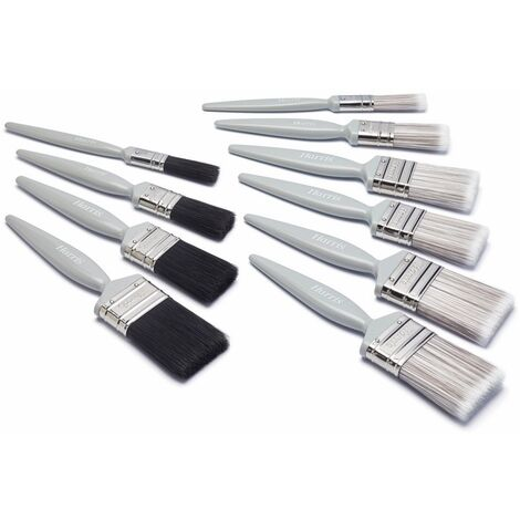 Harris - Essentials Wall, Ceiling & Gloss Paint Brush Set - Pack 10