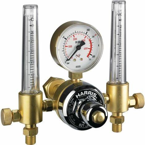 Harris Flaschendruckminderer mit 2 Flowmetern