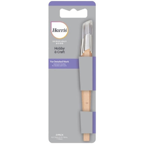 Harris Seriously Good Fitch Paint Brush Set (Pack of 3) (One Size) (Beige)