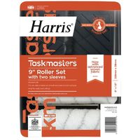 """Harris Taskmasters Paint Roller Set & Extra Sleeve - 9"""" x 1.5"""""""