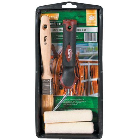 Harris Transform Mini Roller & Brush Woodcare Kit