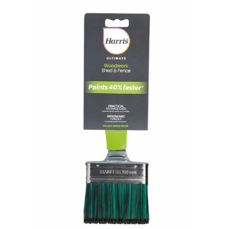 Harris Ultimate Shed Fence Swan Neck Paint Brush