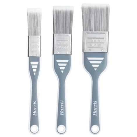 Harris Ultimate Wall And Ceiling Paint Brush Set (Pack Of 3) (One Size) (Grey)