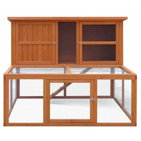 Harrisons Bowness Double Height Hutch with run natural 150x121x117cm x 1 (261023)