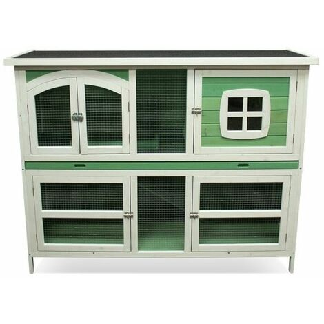 Harrisons Buttermere Double Height Hutch Sage Green 150x60x116cm - 261022
