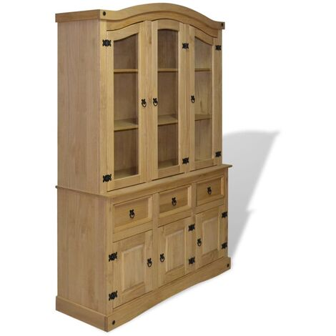 Harry Display Cabinet by August Grove - Brown