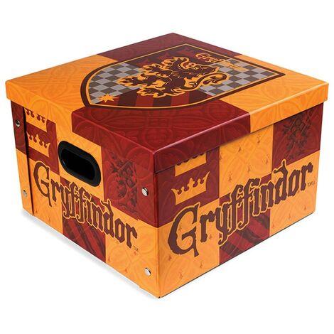 Harry Potter Gryffindor Storage Box (One Size) (Brick Red/Light Orange)