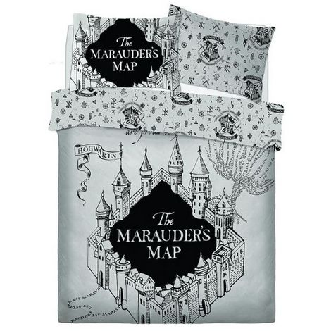 Harry Potter Marauders Map Reversible Duvet Set