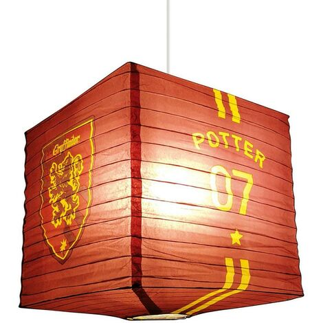 Harry Potter Paper Quidditch Light Shade (One Size) (Red/Yellow)