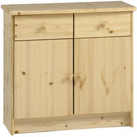 HARTFORD - Solid Wood Storage Cupboard Sideboard with 2 Drawers - Pine