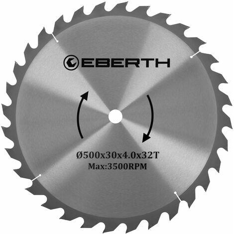 Hartmetall-Kreissägeblatt für Holzschnitte (500 x 3,0 x 32 mm, 32 Zähne, lange Lebensdauer)