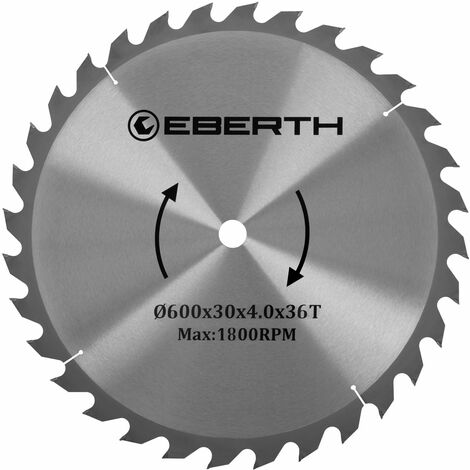 Hartmetall-Kreissägeblatt für Holzschnitte (600 x 4,0 x 30 mm, 36 Zähne, lange Lebensdauer)