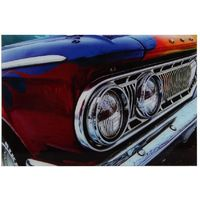 Harvey Makin Glass Wall Plaque - Car Design