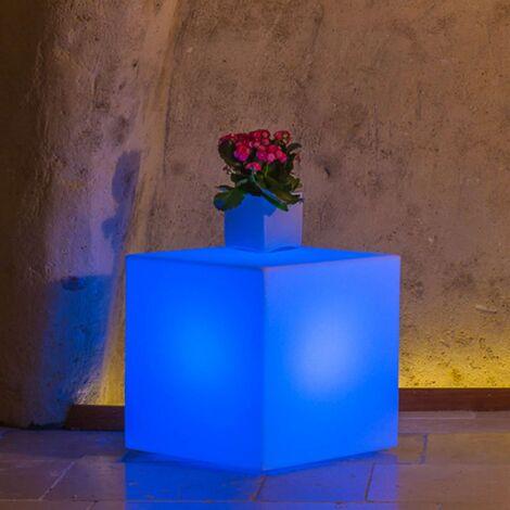 Harz-Lampe mod. Cubo Eckig mit Licht