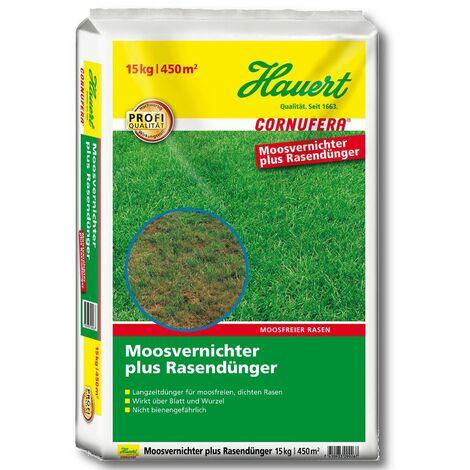 Hauert Cornufera® Rasendünger + Moosvernichter 15 kg Langzeit Rasen Dünger