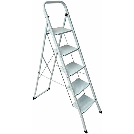 Super Haushaltsleiter Klapptritt Stehleiter Leiter Höhe 150cm 5 Stufen PJ85