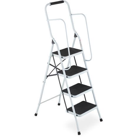 klappbar mit Sicherheitsbügel Trittleiter 4 Stufen