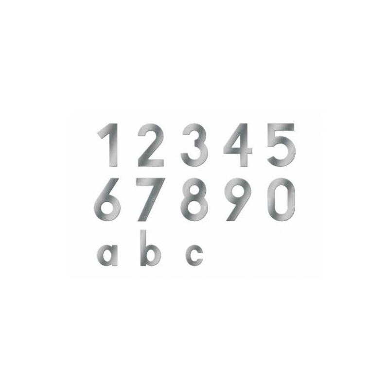 Edelstahl Hausnummer 150mm mit Befestigungsmaterial 1