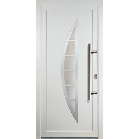 Haustür JM Signum PVC Model 28, innen: weiß, außen: weiß