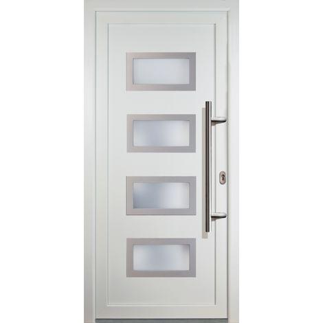Haustür JM Signum PVC Model 92, innen: weiß, außen: weiß