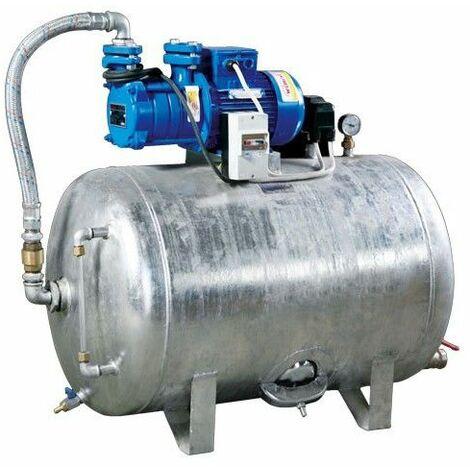 Hauswasserwerk 1,1 kW 230-400V 100-200L Druckbehälter verzinkt Druckkessel Set