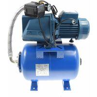 Hauswasserwerk 1500 W 4800L inkl 24-100L Speicher Wasserpumpe Gartenpumpe