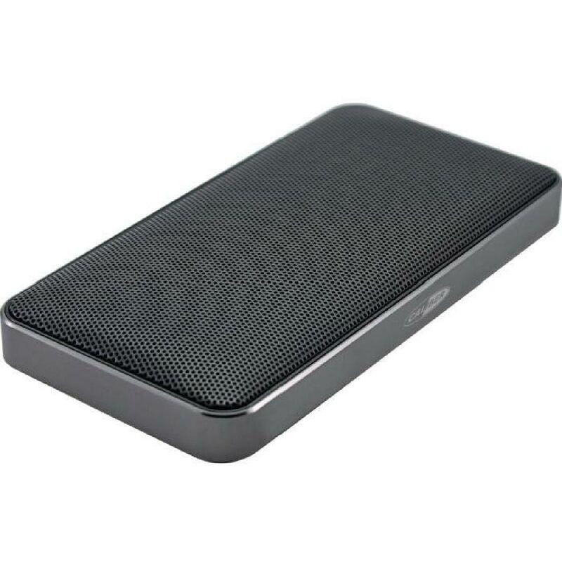 Caliber - Haut-parleur Bluetooth portable equipe d'une batterie integree - Noir et Gris