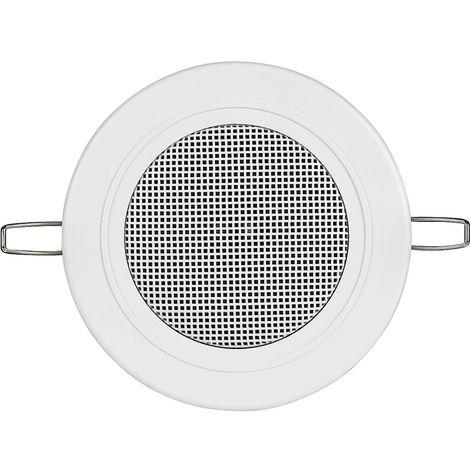 Haut-parleur Bticino controsoffito et les plaques de plâtre blanc et rond