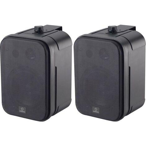 Haut-parleur dextérieur Renkforce Control 250 RF-4243443 30 W IP54 noir 1 paire(s)