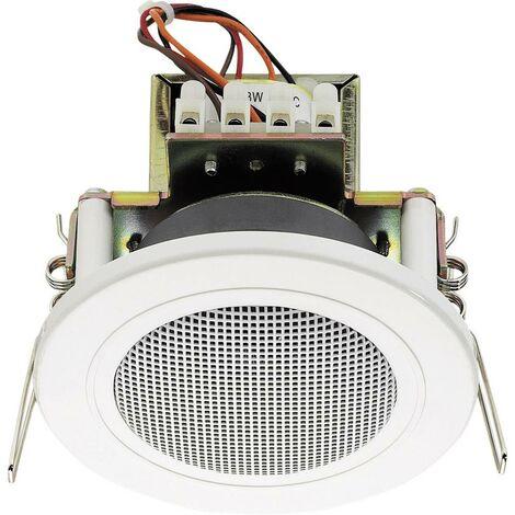 Haut-parleur ELA encastrable Monacor EDL-82/WS 6 W blanc 1 pc(s)
