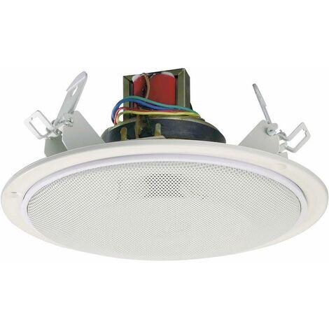 Haut-parleur ELA encastrable Renkforce SPE-178WT 40 W blanc 1 pc(s)