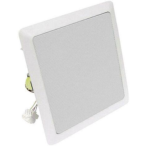 Haut-parleur ELA encastrable Visaton DL 18/3 SQ 60 W blanc 1 pc(s)