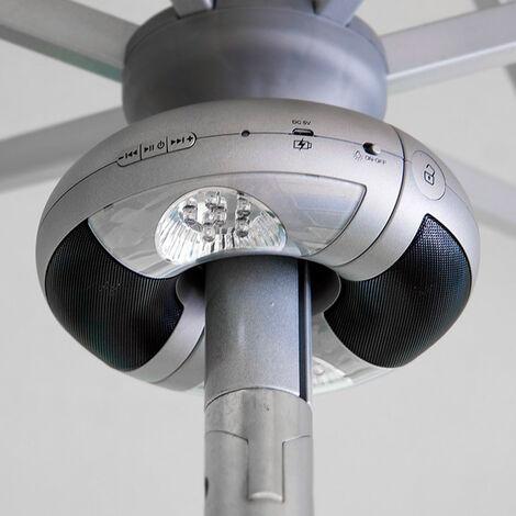 Haut parleurs bluetooth lumière LED pour parasols WORLDMUSIC