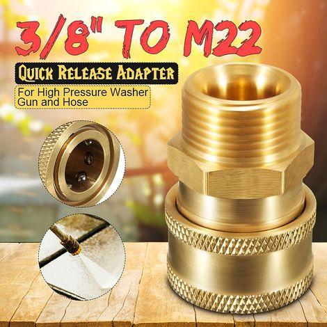 Haute pression laveuse Lavage Voiture Adaptateur Connecteur 3/8inch à M22 Métrique