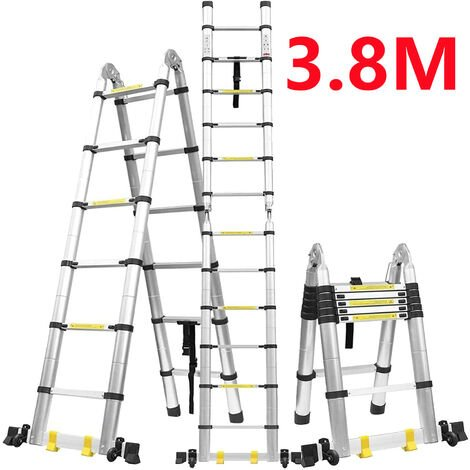 Haute Qualité Échelle Multifonction, Escabeau, 3,8 mètre(s), Barre stabilisatrice, EN 131, Standards/Certifications: EN131