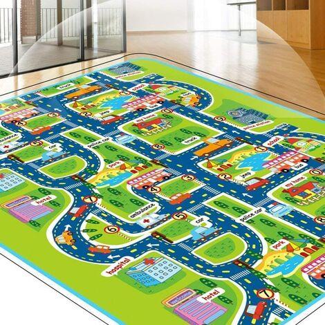 Haute Qualité Tapis de Jeux Bébé Enfant, Tapis de Jeu Circuit Voiture de Course 160x130CM