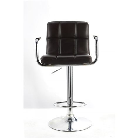 Havana Faux Leather Swivel Breakfast Kitchen Barstool - Black