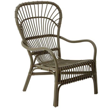 Havana relax chair, rattan, grey colour