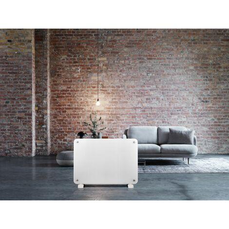 HAVERLAND Radiateur en Verre Blanc 1500W - Option Mural ou Portable