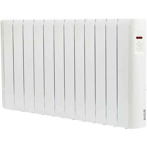 Haverland RCE12S Radiateur électrique à inertie fluide caloporteur 1800 W | Design Compact | Indicateur de consommation | Blanc