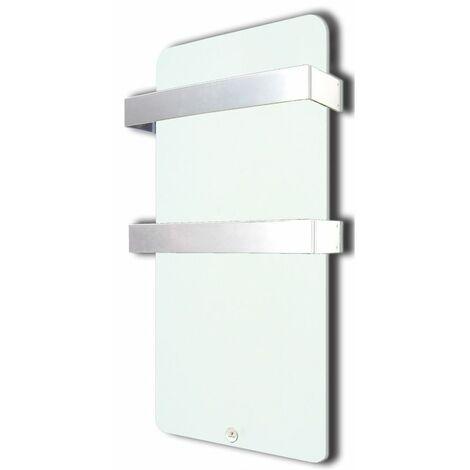 HAVERLAND Sèche-serviettes Electrique en Verre Extra Plat Blanc - 400W Design Moderne