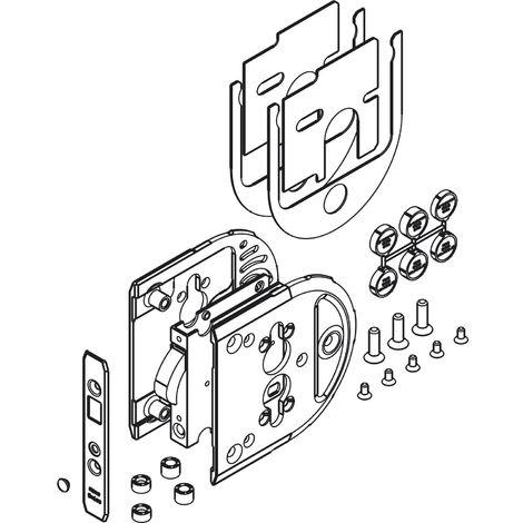 HAWA Toplock Schiebetürschloss PZ für ESG/VSG Glas 8 - 12,7 mm