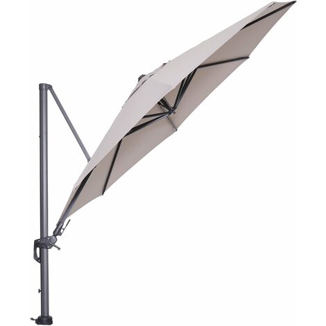 Hawaii Cantilever Parasol 350cm Sand Canopy with 90kg Granite Moveable Base
