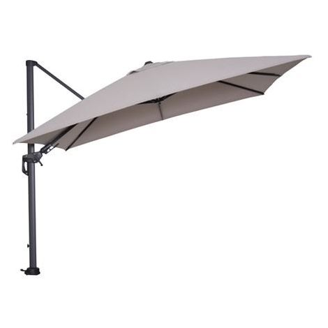 Hawaii parasol 300x300 carbon grey/ sand